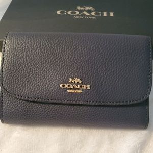 COACH, WALLET BLUE